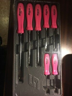 Snap On Screwdriver Set Pink Standard Handle  Special Edition