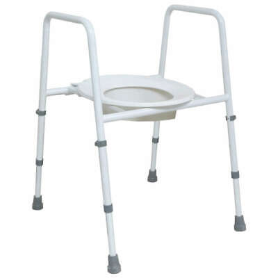 NRS Healthcare Height Adjustable Toilet Frame with Seat