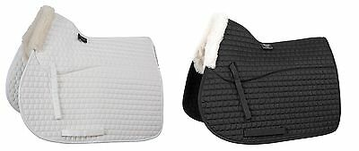 Shires Half Lined Saddlecloth FULL **BLACK OR WHITE**