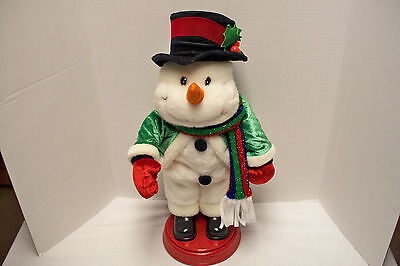 GEMMY Animated Snowman figure singing SHAKE YOUR GROOVE THING soul disco music