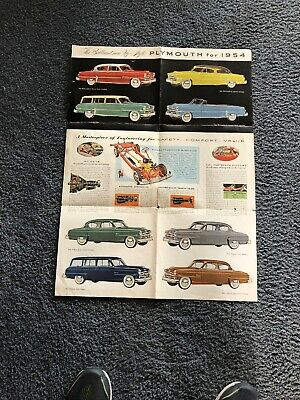 Vtg Antique 1954 Plymouth Hy-Style Sales Brochure Dealer Catalog Car Book