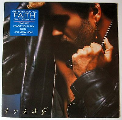 GEORGE MICHAEL - FAITH - LP Mint Never Played with insert Lyrics Poster