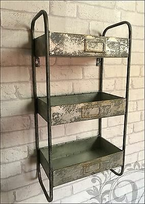 Retro Vintage Industrial Style Metal Shelves Shelf Storage Cabinet Cupboard Unit