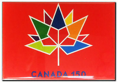 "Canada 150 Anniversary Fridge Magnet - 2x3"" Metal Backed - MADE IN CANADA"