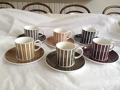 Susie Cooper Bone China Coffee Set. 6 X  Cans / Cups And Saucers . Boxed
