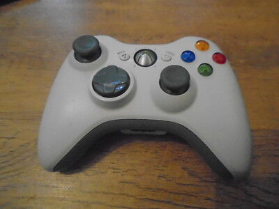 Official Microsoft Xbox 360 Wireless White Controller Control Pad Uk Pal