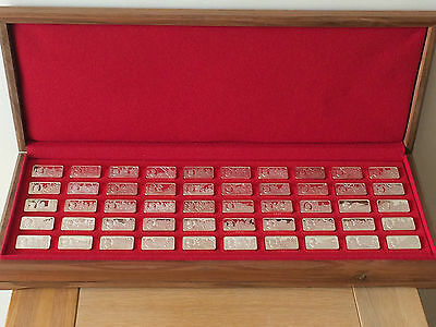50 Silver Proof Ingots 1000 Years of British Monarchy Franklin Mint John Pinches