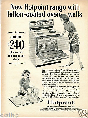 1965 Print Ad of GE General Electric Hotpoint Oven Range Model RB340