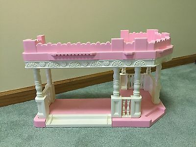 1994 Playskool Dollhouse Sun Deck Patio Extension Two Level Front Porch EUC