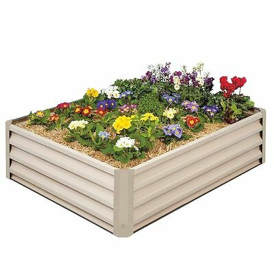 Metal Raised Garden Bed Kit - Elevated Planter Box For Growing Herbs, Vegetables