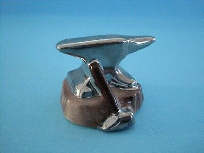 HAGEN-RENAKER PORCELAIN ANVIL WITH SILVER SO NICE *Mint Condition*