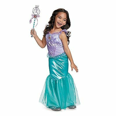 Disguise Disney Princess Ariel Little Mermaid Classic Toddler AND Child  Costume