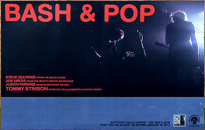 BASH & POP Anything Can Happen 2017 Ltd Ed RARE Poster +FREE Folk Rock Poster!