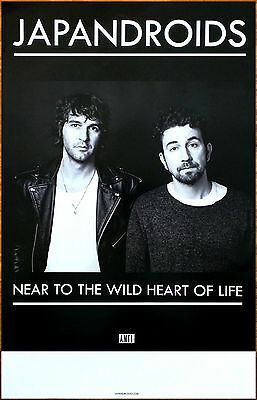 JAPANDROIDS Near To The Wild Heart 2017 RARE New Poster +FREE Rock Pop Poster!
