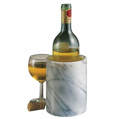 Creative Home: Natural White Marble Wine Cooler, Tool Crock / Padded Bottom