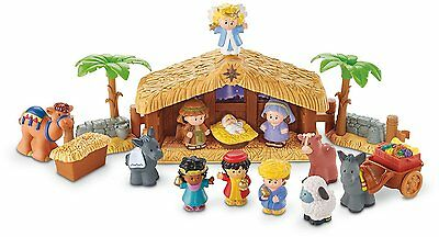 FISHER-PRICE LITTLE PEOPLE MUSIC & LIGHTS NATIVITY SET Christmas Story *NEW*