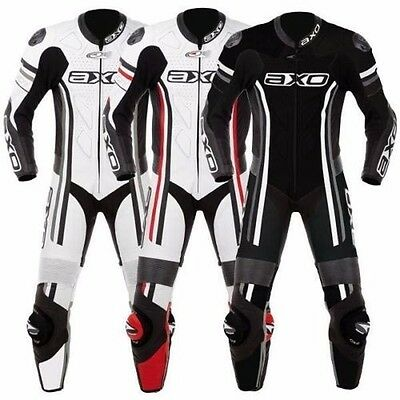 AXO Motorbike Leather Suit Motorcycle Custom Made CE Armour Any Colour/Size