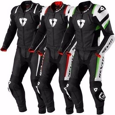 REV'IT Motorbike Leather Suit Motorcycle Custom Made CE Armour Any Colour/Size