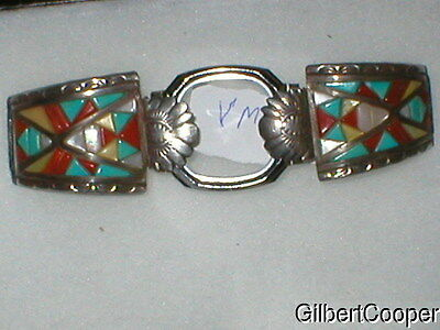BEAUTIFUL NAVAJO WATCH BAND made by VICTOR MOSES BEGAY