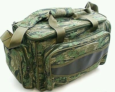 Carp Coarse Fishing Camo Bag Insulated Luggage Carryall Holdall Ngt Cooler