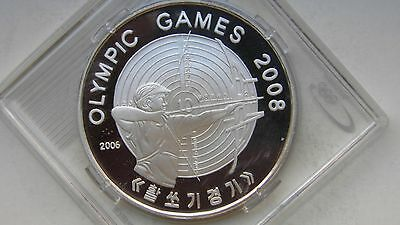 2006 Korea 5 Won 2008 Olympics Archery Silver Proof coin