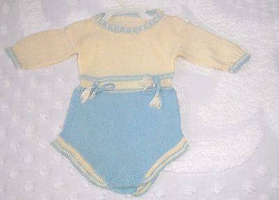 Vintage Baby clothes, boys      Knitted Onesey