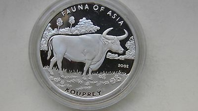 2002 Korea 5 Won Kouprey Silver Proof coin