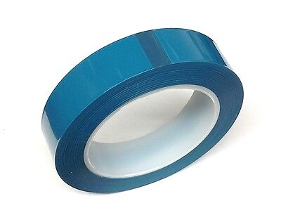 High Temperature Powder Coating Polyester/silicone Masking Tape 72 Yds Blue 7/8""