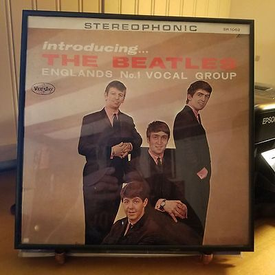 Introducing The Beatles-Vee Jay Records-Lp 1062-Reissue-Near Mint And Framed
