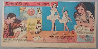 Seein' Stars: Les Clark, Cyd Charisse, Jean Peters from 6/29/1947