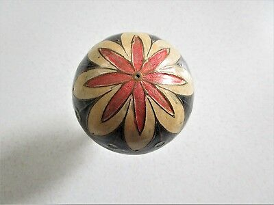 Metal Brass Decorative Ball Floral Made in India With Brass Cup Etched Vintage