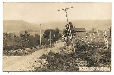 RPPC Valley View LACEYVILLE? PA Wyoming County Pennsylvania Real Photo Postcard