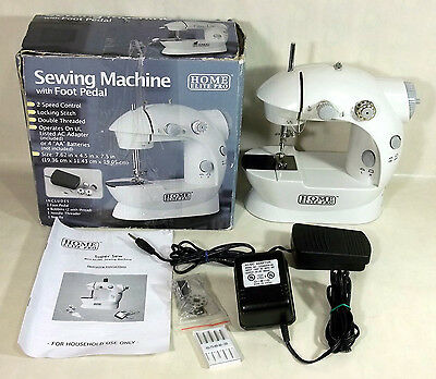 Home Elite Pro Small Portable 2 Speed Sewing Machine with Foot Pedal