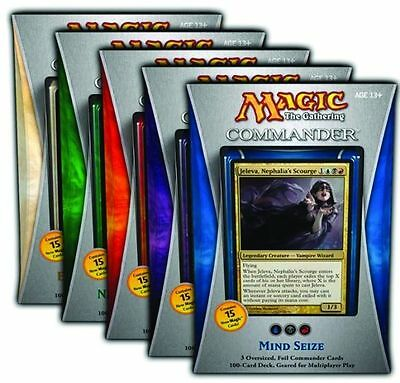 Commander 2013 All Five 5 Decks Set MtG Magic New Sealed Card Cards Mind Seize