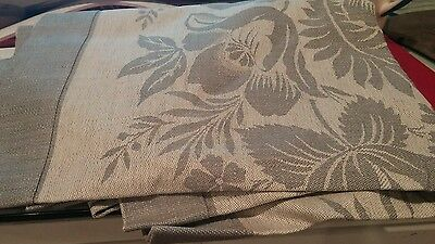 Williams Sonoma Vintage Floral Jacquard runner 18 X 108 gray New without tag