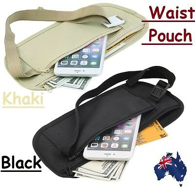 Travel Pouch Hidden Wallet Security Waist Passport Money Card Ticket Belt Bag EZ