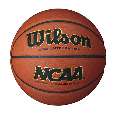 Wilson NCAA Replica Game Ball Basketball Patented Composite Laid In Channels