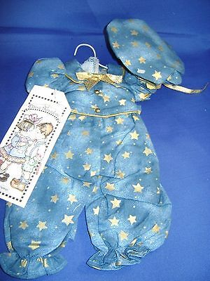 NEW with tags DAISY KINGDOM Blue Star Pantsuit & Bonnet