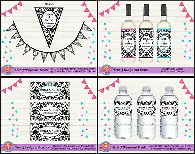 Personalised Wedding Engagement Party Decorations Favours Bombonieres Wine Water