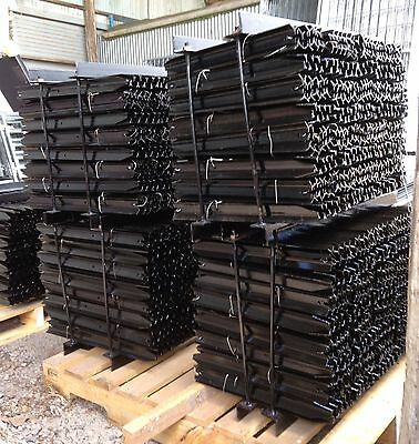 Star Pickets BLACK HEAVY Steel Fence Post 1350mm/135cm 10 pack 2.04Kg/m