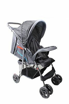 Foldable Baby Kids Travel Stroller With Canopy & Storage Black/ Pink/ Red/ Blue