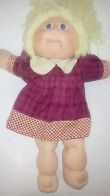 Vintage Cabbage Patch Kid 1983 1985 Coleco 42cm yellow wool hair in Exc Cond