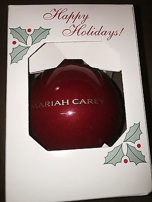 Mariah Carey Official All I Want For Christmas Nyc Tour Tree Ornament Rare