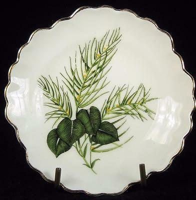 Adderley Floral Green Leaves Bone China Trinket Dish