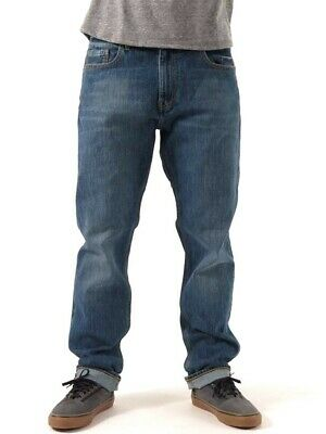 Men's Element Desoto Regular Tapered Mid Blue Jeans, Size 32. NWT. RRP $99.99.