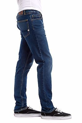 Men's Element Desoto Regular Tapered Mid Blue Jeans, Size 34. NWT. RRP $99.99.