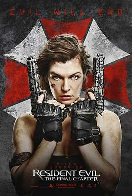Resident Evil: The Final Chapter Movie POSTER 27 x 40, A,  LICENSED  USA NEW
