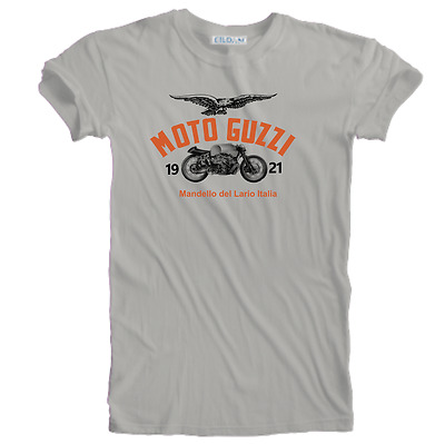 Italian Moto Guzzi Motorcycle Biker Vintage Retro Classic 1921 Sizes S to 5XL