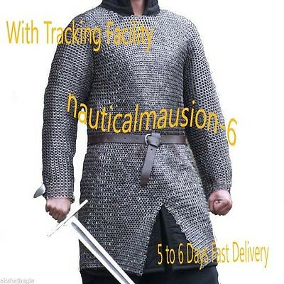 Flat Rivet With Flat Washer Chainmail L Size Full Sleeve Hubergion Shirt Olied