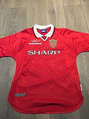 Manchester United Champions League Home Shirt 1999/00 Medium Rare And Vintage